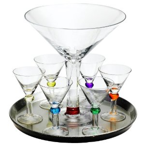Circle Glassware Bejeweled 8-piece martini set
