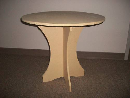 3 Piece Round Wooden Decorating/Accent Table - $10