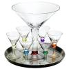 Circle Glassware Bejeweled 8-piece martini set